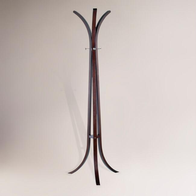 Walnut Bentwood Coat Rack