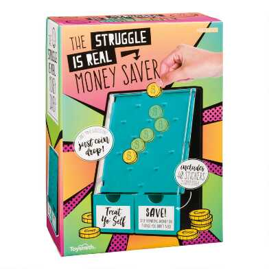 Toysmith The Struggle is Real Money Saver Coin Bank