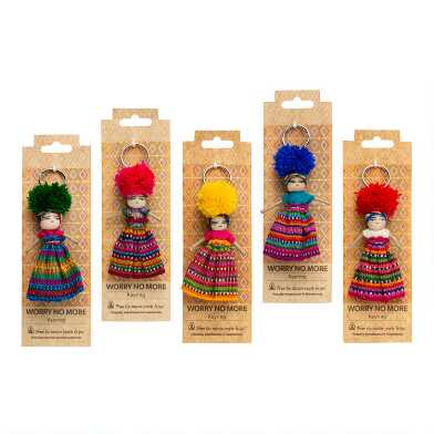 Mayan Worry Doll Keychains Set of 5