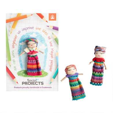 Mayan Worry Doll Set of 2