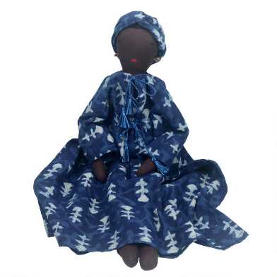 Blue Soumba Collectible Silaiwali Doll and Bed Set