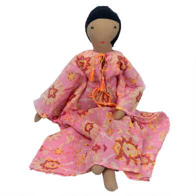 Pink Soumba Collectible Silaiwali Doll and Bed Set
