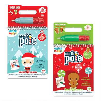 Water Magic Holiday Activity Book and Scented Brush Set of 2