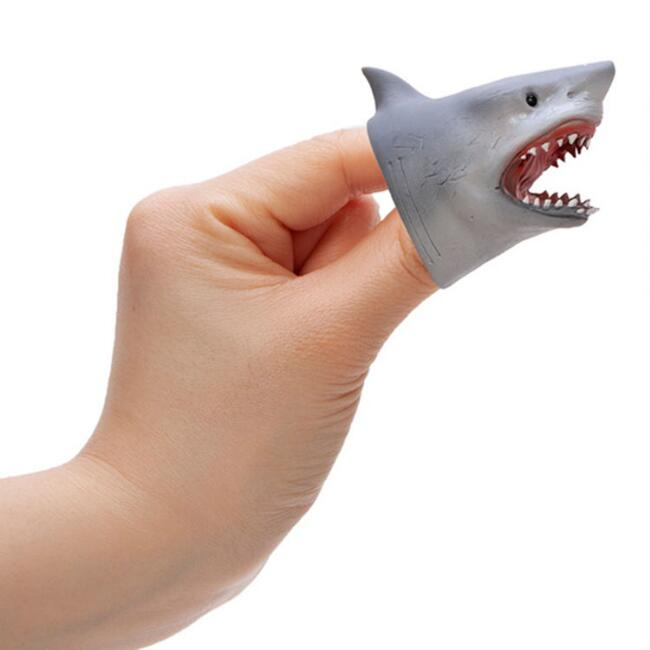 Schylling Shark Baby Finger Puppets Set of 2