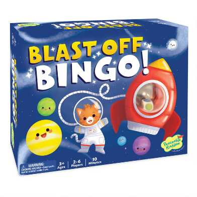 Peaceable Kingdom Blast Off Bingo Game