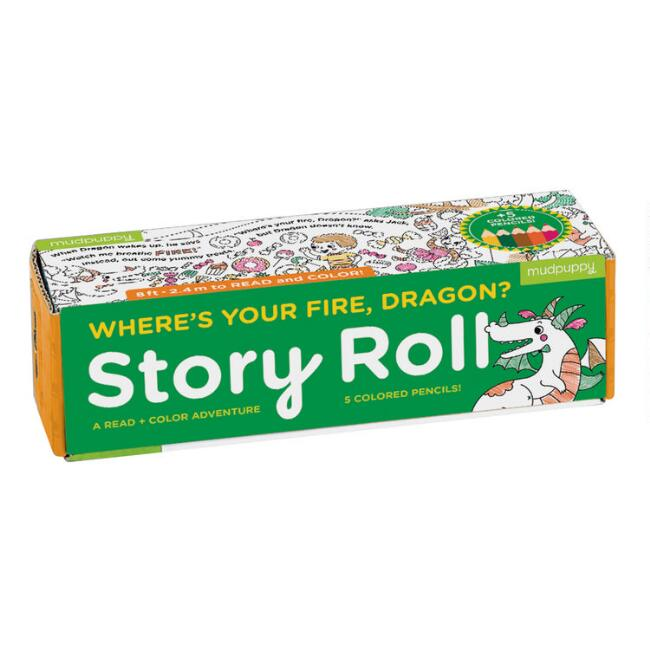 Mudpuppy Where's Your Fire Dragon Read and Color Story Roll