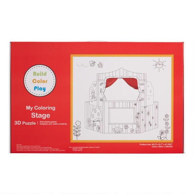 Build Color Play 3D My Coloring Stage Puppet Theater