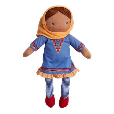 Global Sisters Blue Tunic Dress Plush Stuffed Doll