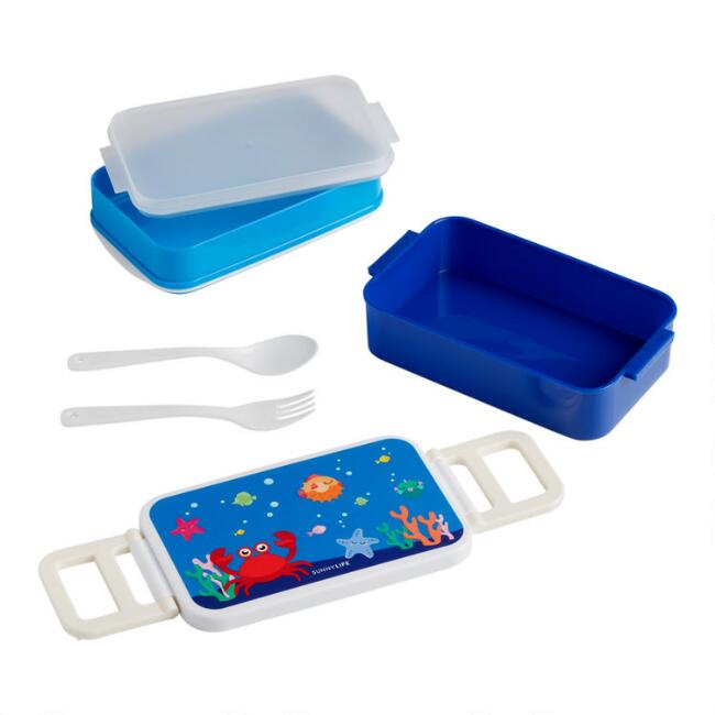 Sunnylife Kids Under the Sea 2 Layer Bento Lunch Box