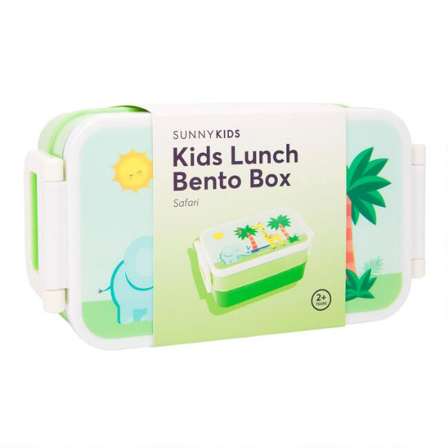 Sunnylife Kids Safari Animal 2 Layer Bento Lunch Box