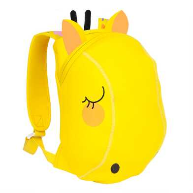 Sunnylife Yellow Neoprene Giraffe Kids Backpack