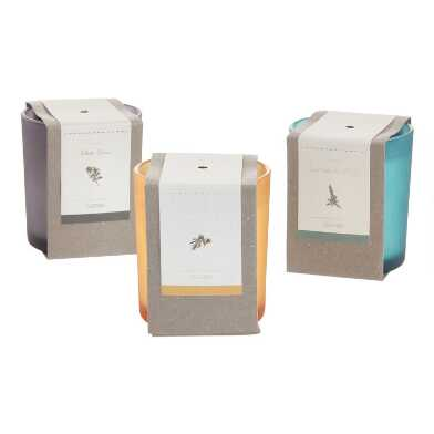 Boxed Matte Glass Filled Jar Candle