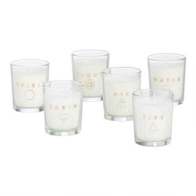 Physical Universe Boxed Votive Candles 6 Piece