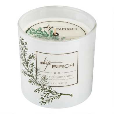 Frosted White Birch Filled Jar Candle
