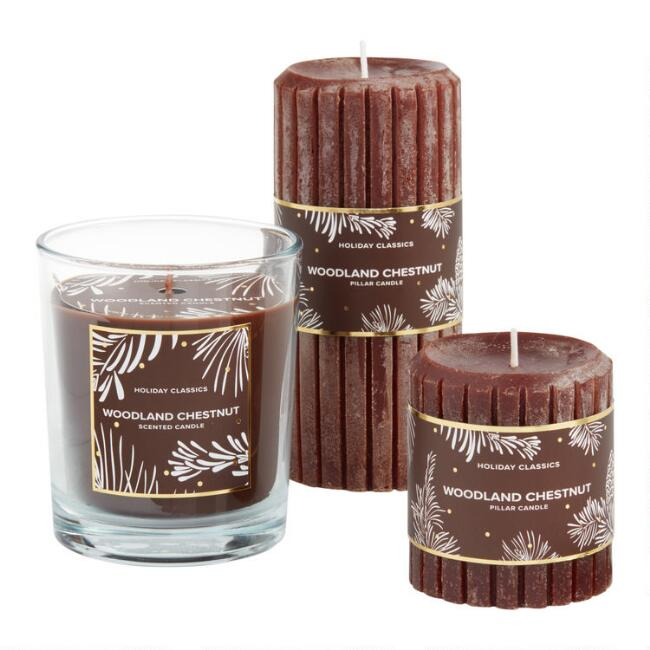 Brown Woodland Chestnut Candle Collection