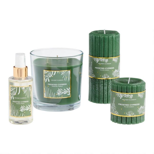 Green Frosted Cypress Candle Collection