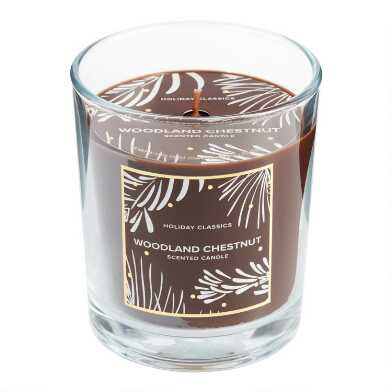 Brown Woodland Chestnut Filled Jar Candle