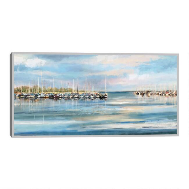 Blue Harbor Framed Canvas Wall Art