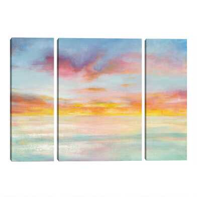 Pastel Sky Triptych by Danhui Nai Canvas Wall Art 3 Piece