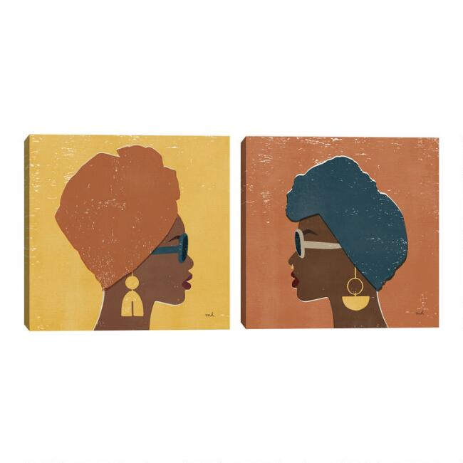 Kenya Couture I-II by Moira Hershey Canvas Wall Art 2 Piece