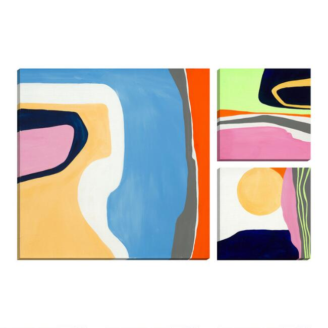 Play Date I-III by Ruth Fromstein Canvas Wall Art 3 Piece