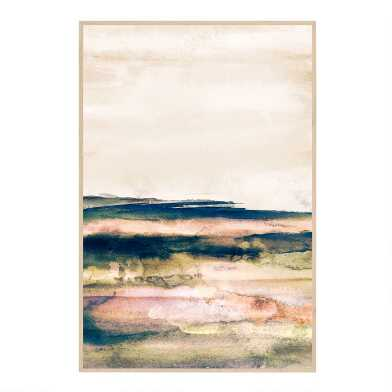 Terra Strata II Abstract Watercolor Framed Canvas Wall Art