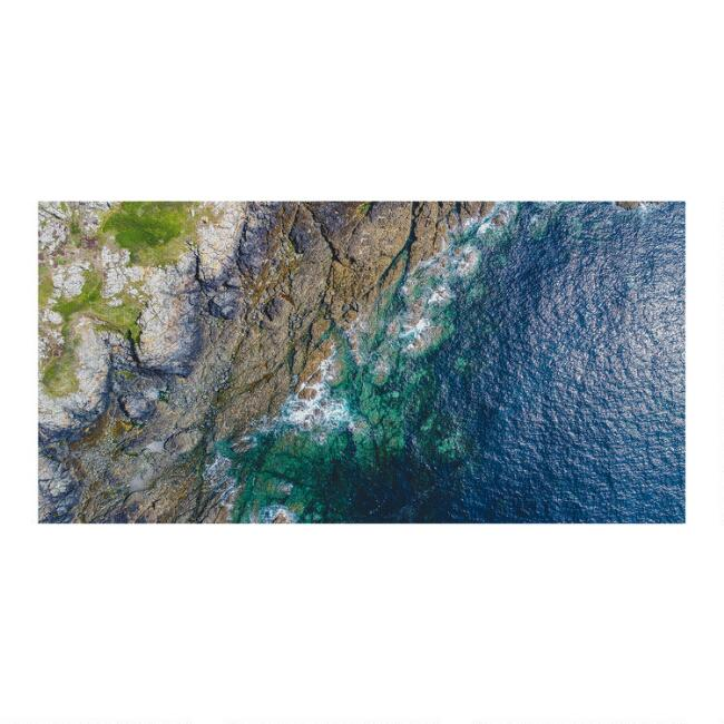 Aerial Shoreline Canvas Wall Art