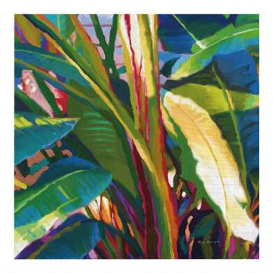 Palm Impressions By Rick Novak Canvas Wall Art