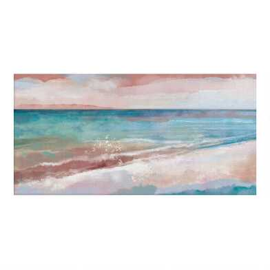 Coastal View Abstract Canvas Wall Art