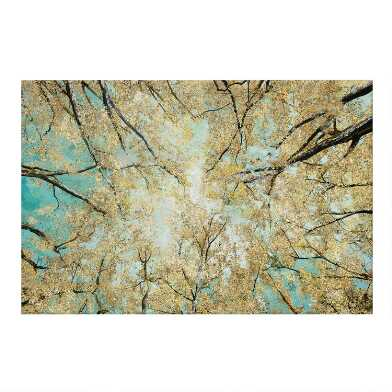 Sky High Tree Canopy Canvas Wall Art