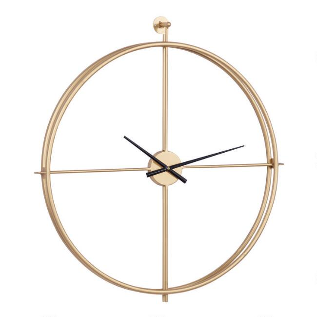 Gold Metal Minimalist Wall Clock