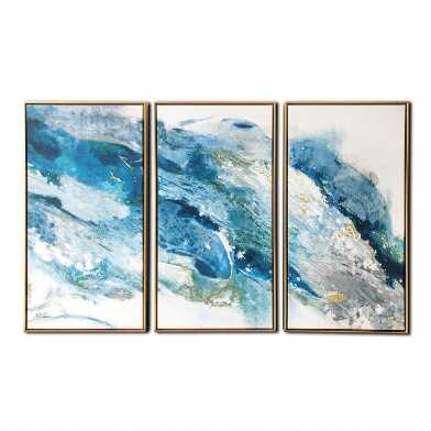 Abstract Regalite Triptych Framed Canvas Wall Art 3 Piece