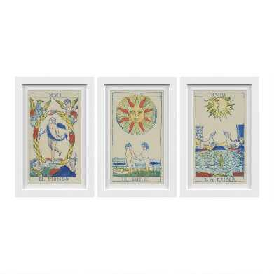 Tarot Card Framed Wall Art 3 Piece