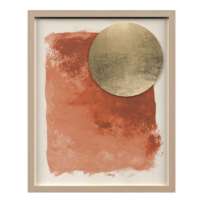 Summer Afternoon Abstract Shadow Box Wall Art