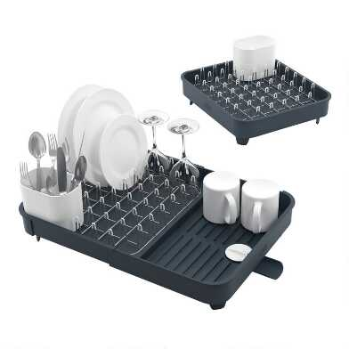 Joseph Joseph Gray Extend Expandable Dish Draining Rack