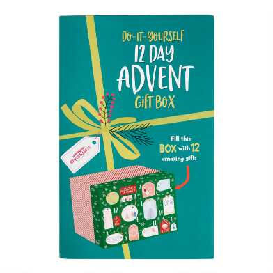 Gift Tag DIY 12 Day Advent Calendar Gift Box