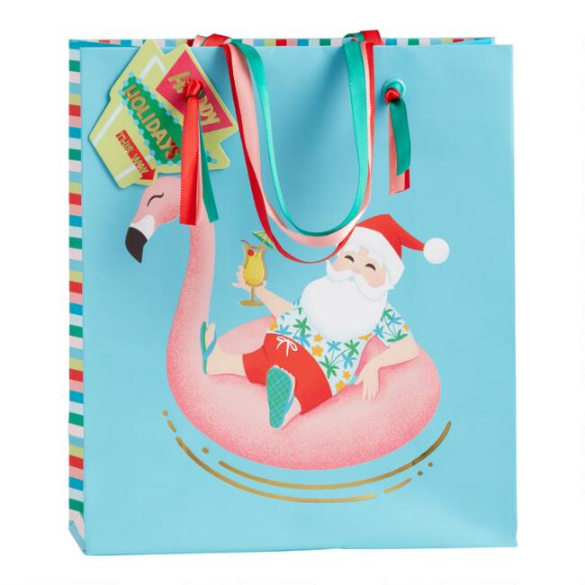 Small Pool Party Holiday Gift Bag Set Of 2