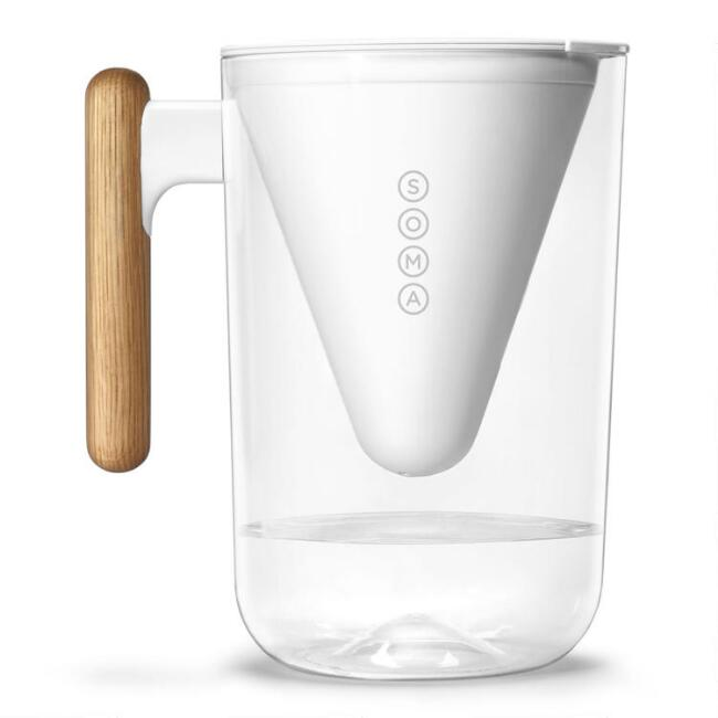 Soma 10 Cup Water Filtration Pitcher with Bamboo Handle