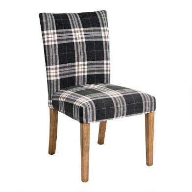 Plaid Howard Upholstered Dining Chairs Set of 2