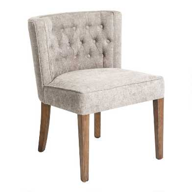 Gray Tufted Sebastian Upholstered Dining Chairs Set of 2