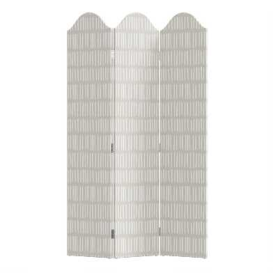 Dash Cream White 3 Panel Kaia Upholstered Folding Screen