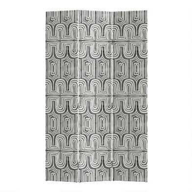 Ingrid Charcoal 3 Panel Laurel Upholstered Folding Screen