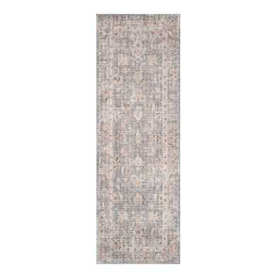Gray and Apricot Persian Style Icaria Floor Runner