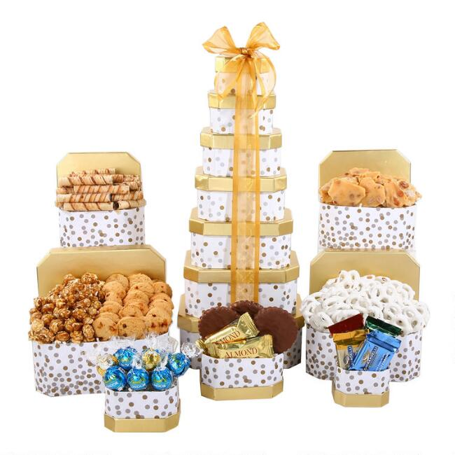 Merry And Bright 7 Piece Holiday Gift Tower