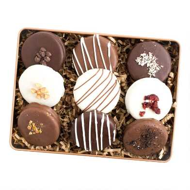 Signature Chocolate Sandwich Cookie Sampler Gift Tin 9 Count