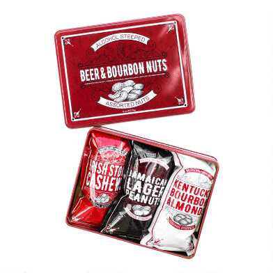 Beer and Bourbon Nuts Gift Tin 3 Pack