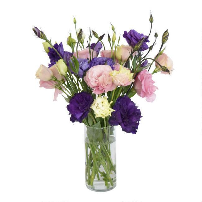 Fresh Pink and Purple Lisianthus Bouquet