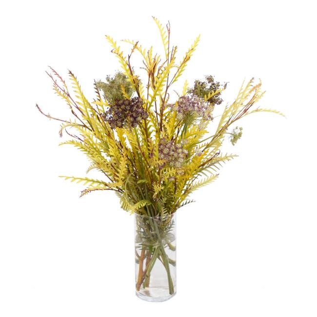 Fresh Chocolate Queen Anne's Lace and Grevillea Bouquet