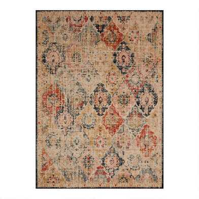 Multicolor Distressed Diamond Jocelyn Area Rug