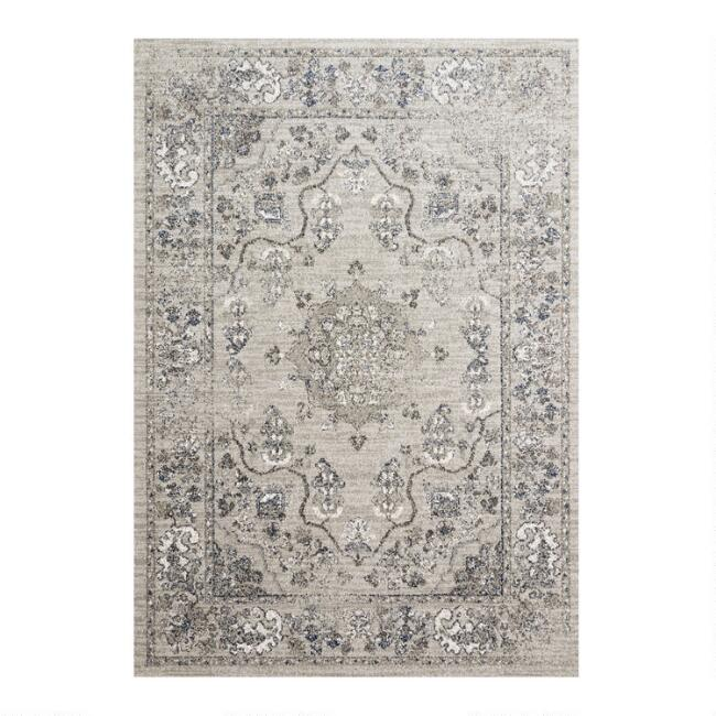 Gray Distressed Vintage Style Joaquin Area Rug